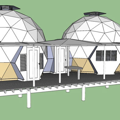 Onze geodesic domes